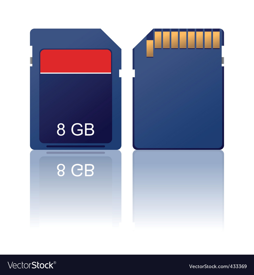 Memory card vector | Price: 1 Credit (USD $1)