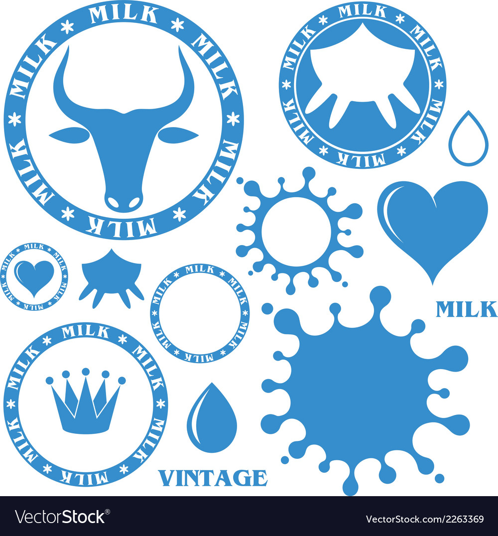 Milk set vector | Price: 1 Credit (USD $1)