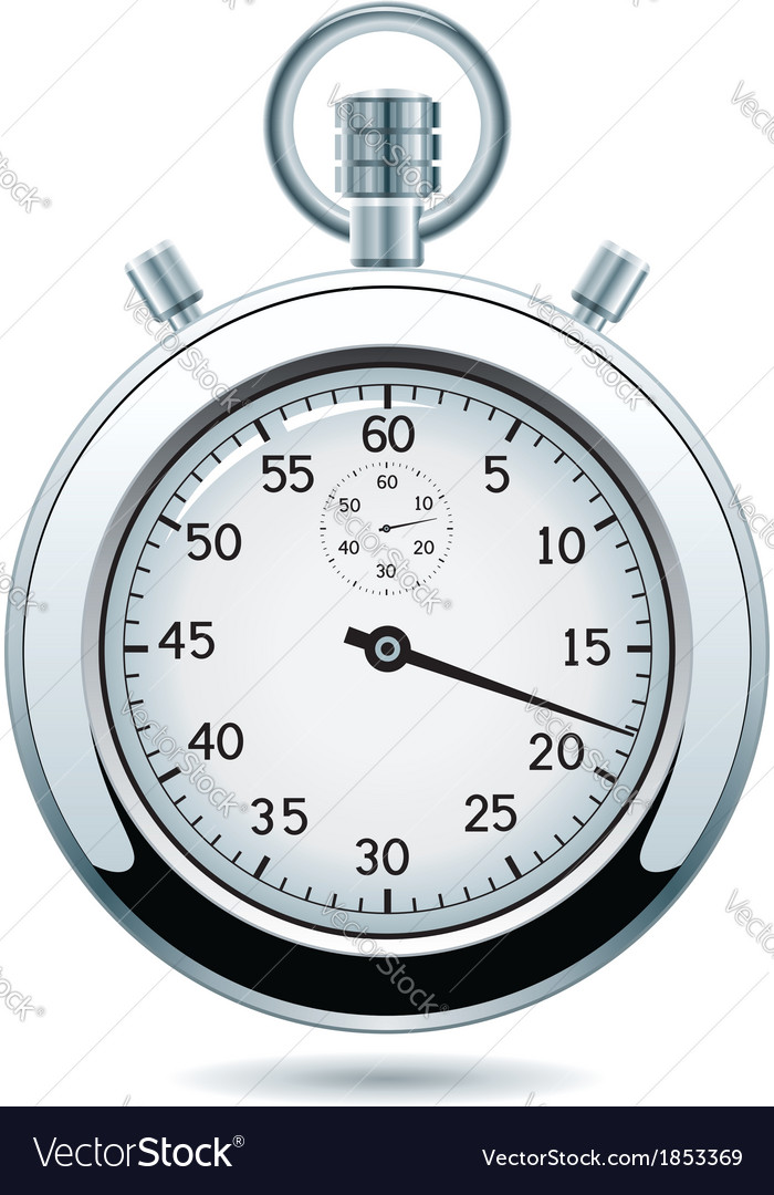 Silver stopwatch vector | Price: 1 Credit (USD $1)