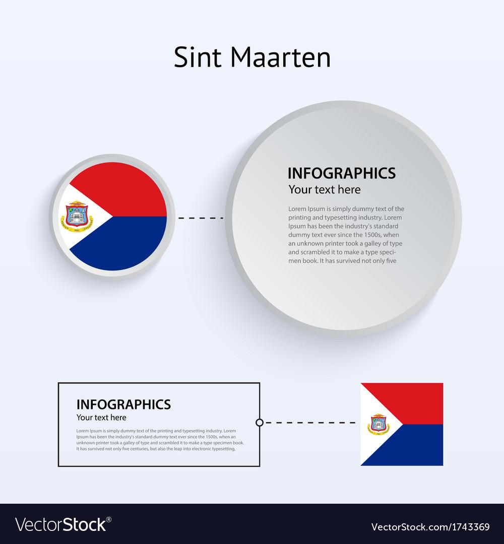 Sint maarten country set of banners vector | Price: 1 Credit (USD $1)