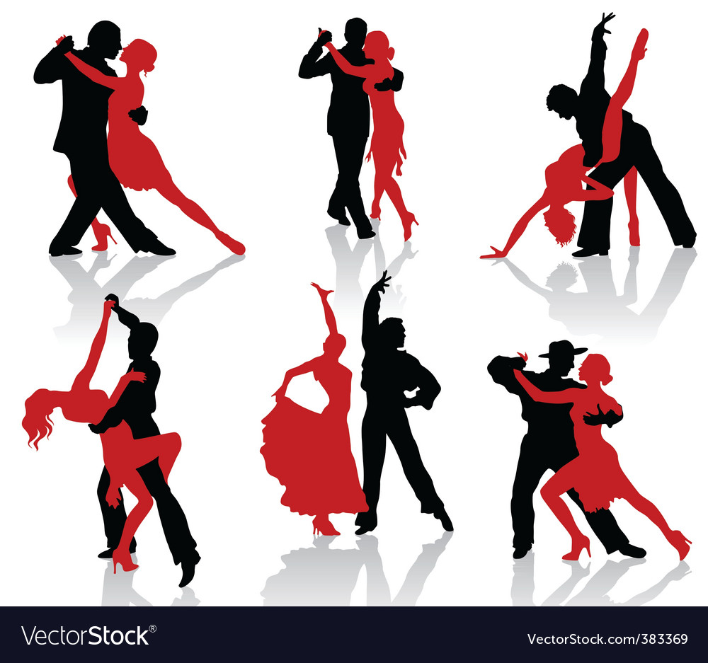 Tango silhouettes vector | Price: 1 Credit (USD $1)