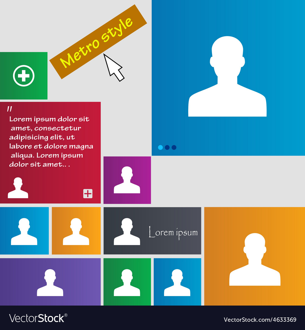 User person log in icon sign metro style buttons vector   Price: 1 Credit (USD $1)