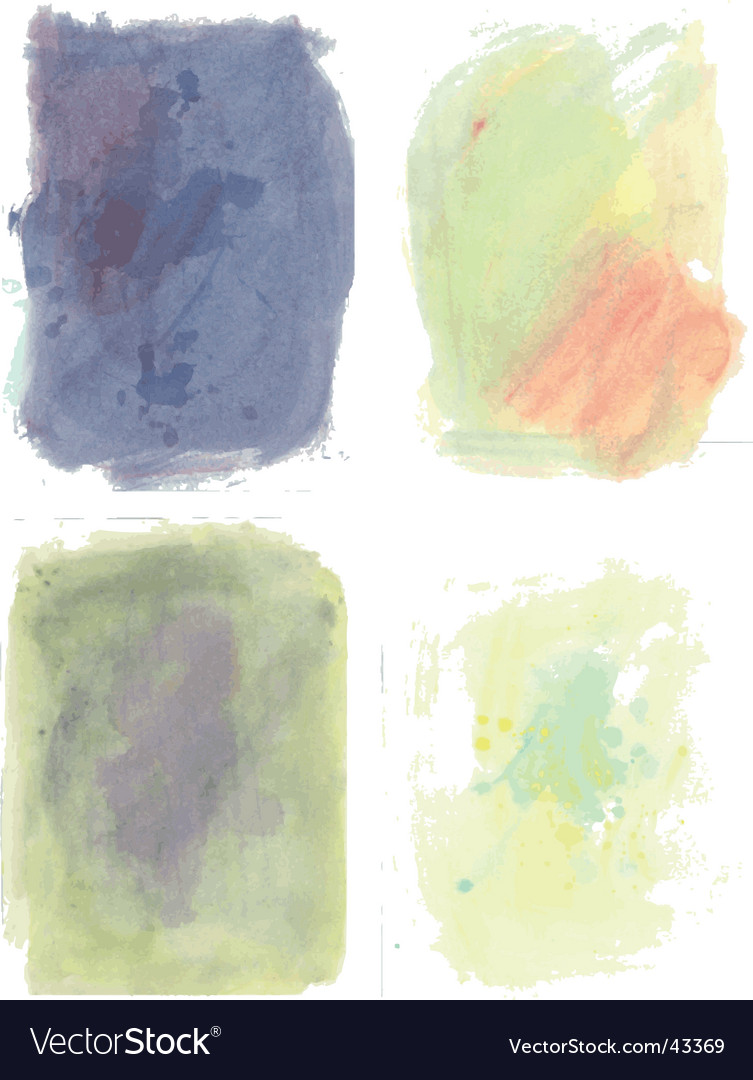 Water color swatches vector | Price: 1 Credit (USD $1)