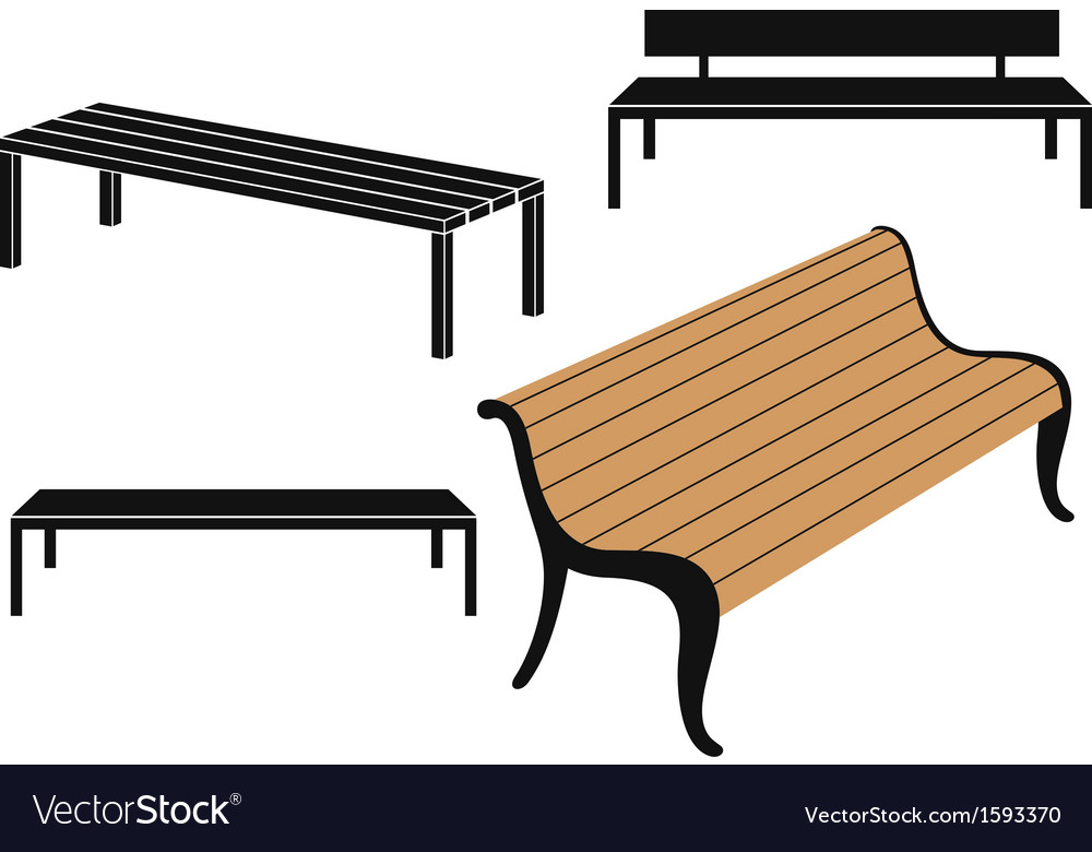Bench vector | Price: 1 Credit (USD $1)