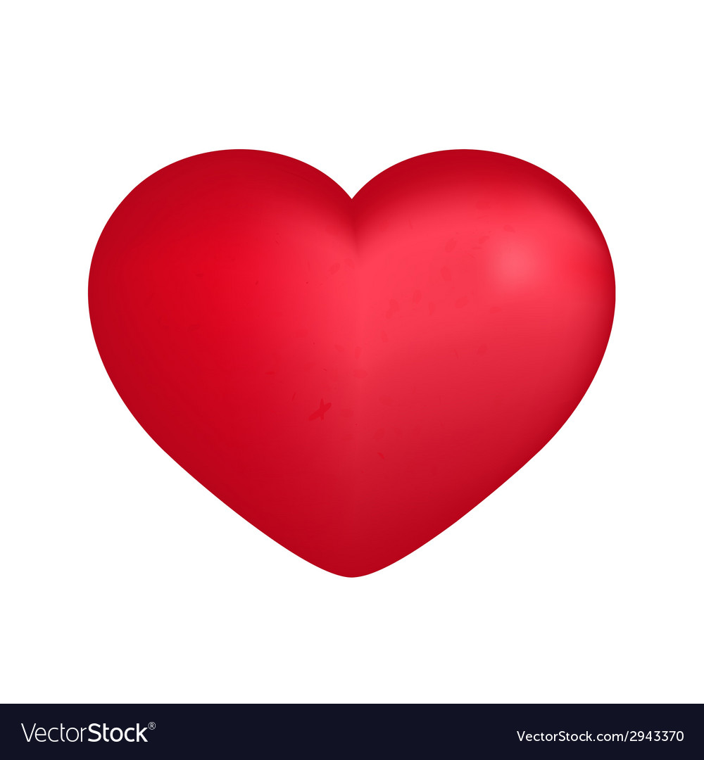 Big red heart over white vector | Price: 1 Credit (USD $1)