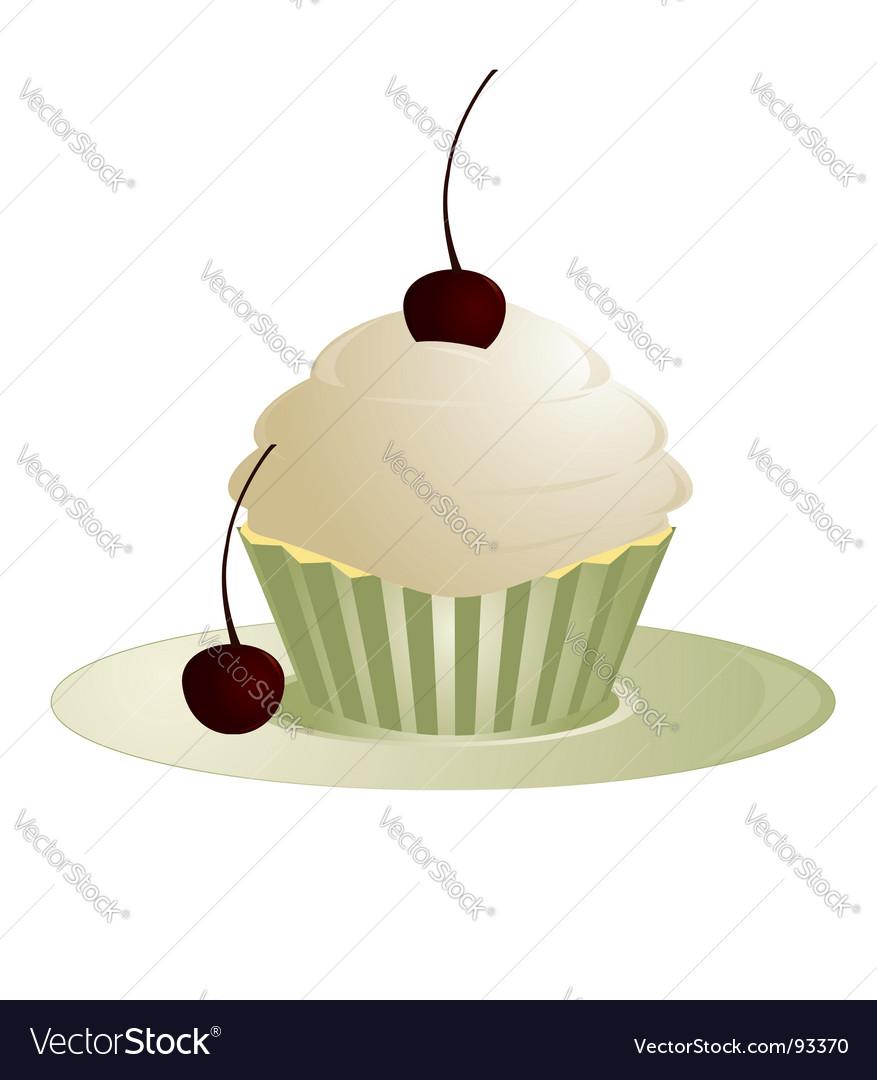 Cherry cupcake vector | Price: 1 Credit (USD $1)