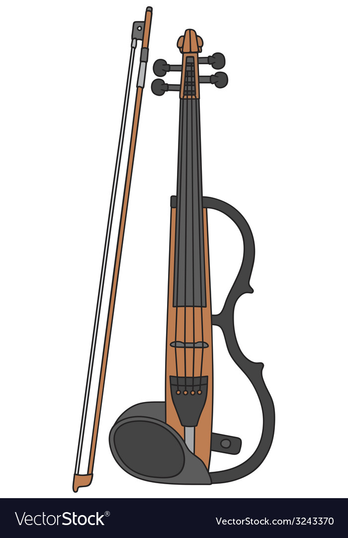Electric violin vector | Price: 1 Credit (USD $1)
