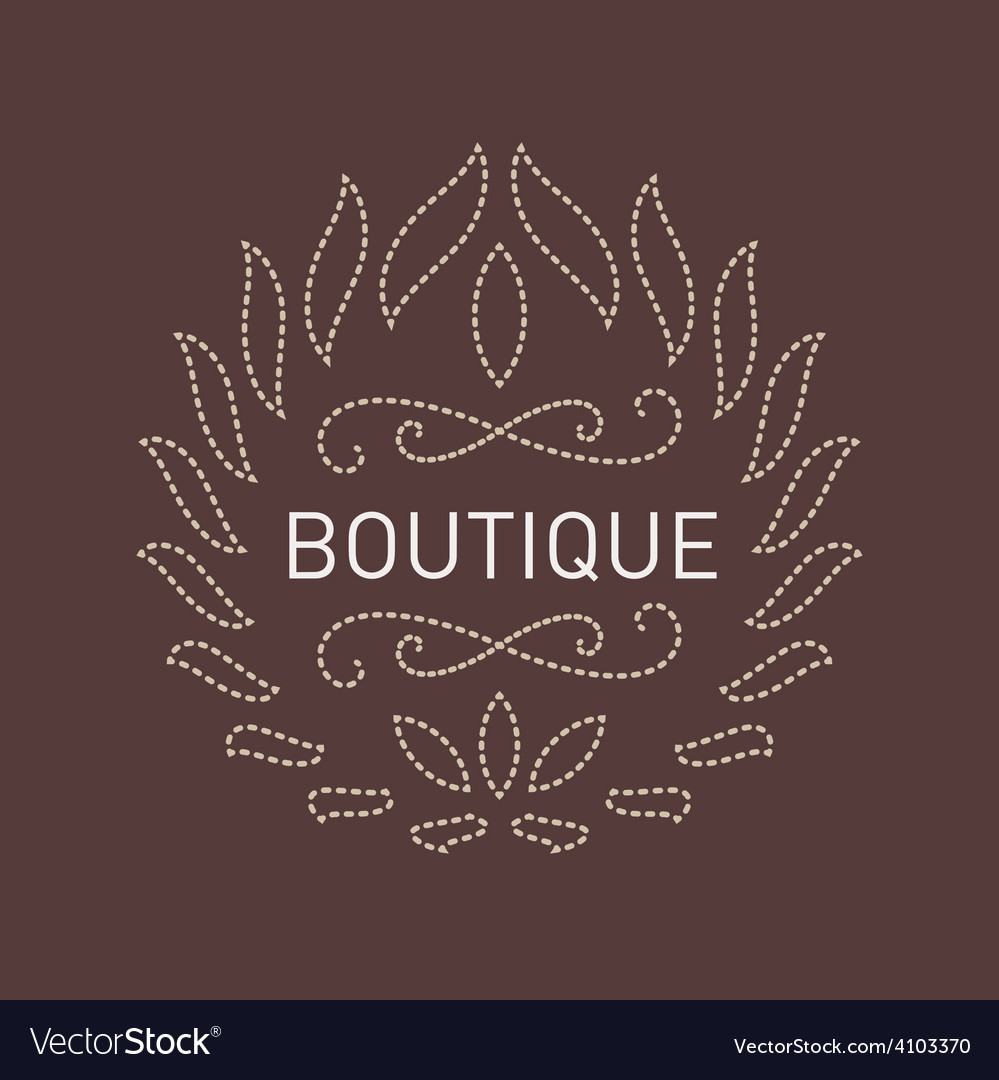 Graceful floral lineart logo template for beauty vector | Price: 1 Credit (USD $1)