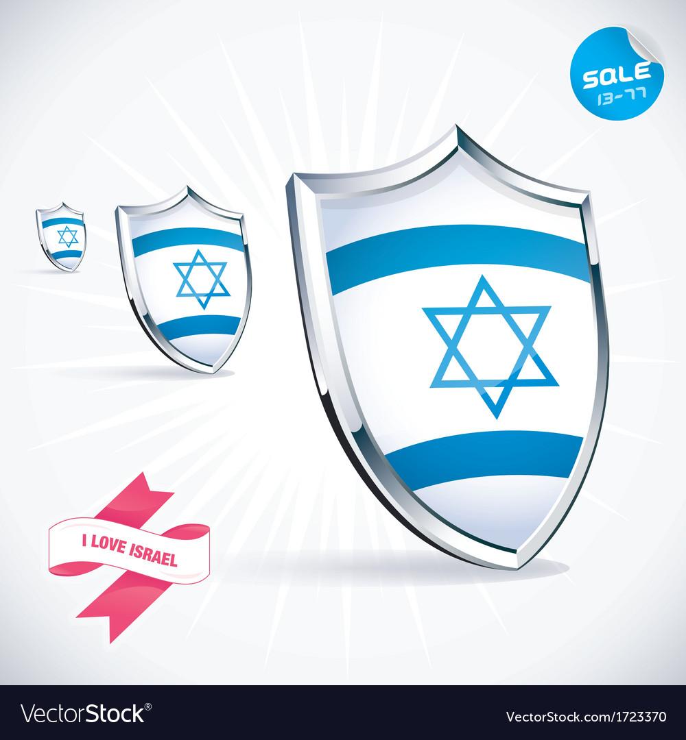 I love israel flag vector | Price: 1 Credit (USD $1)