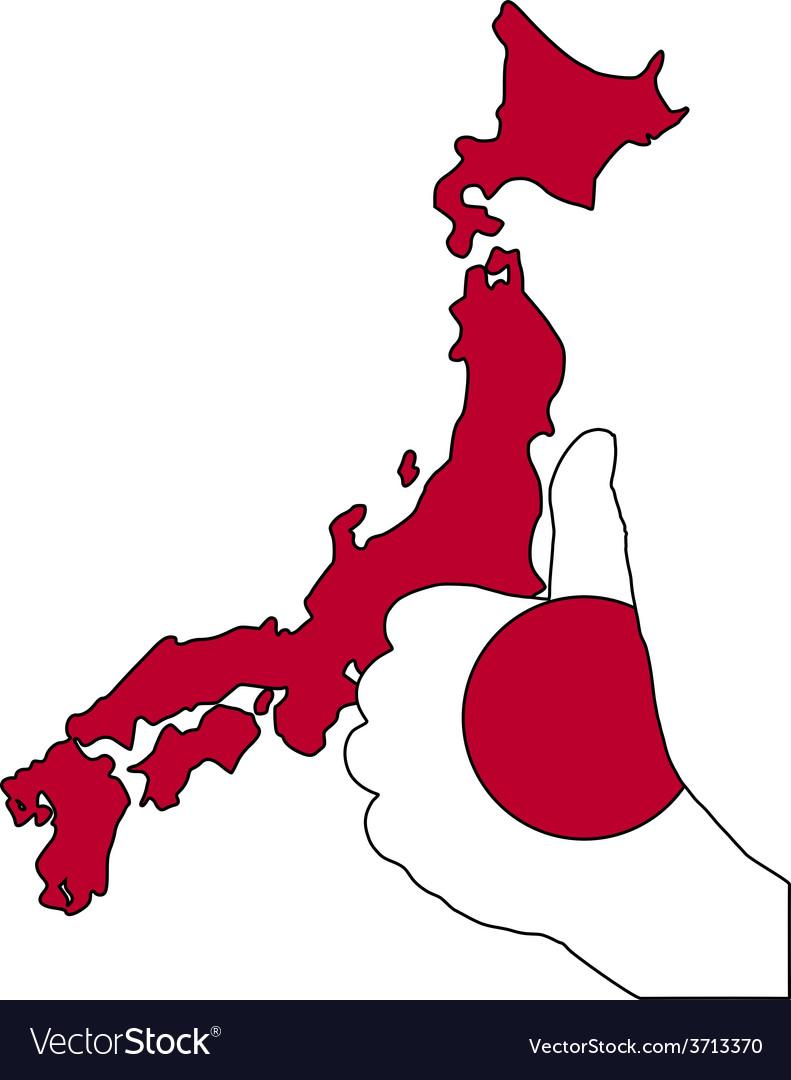 Japan hand signal vector | Price: 1 Credit (USD $1)