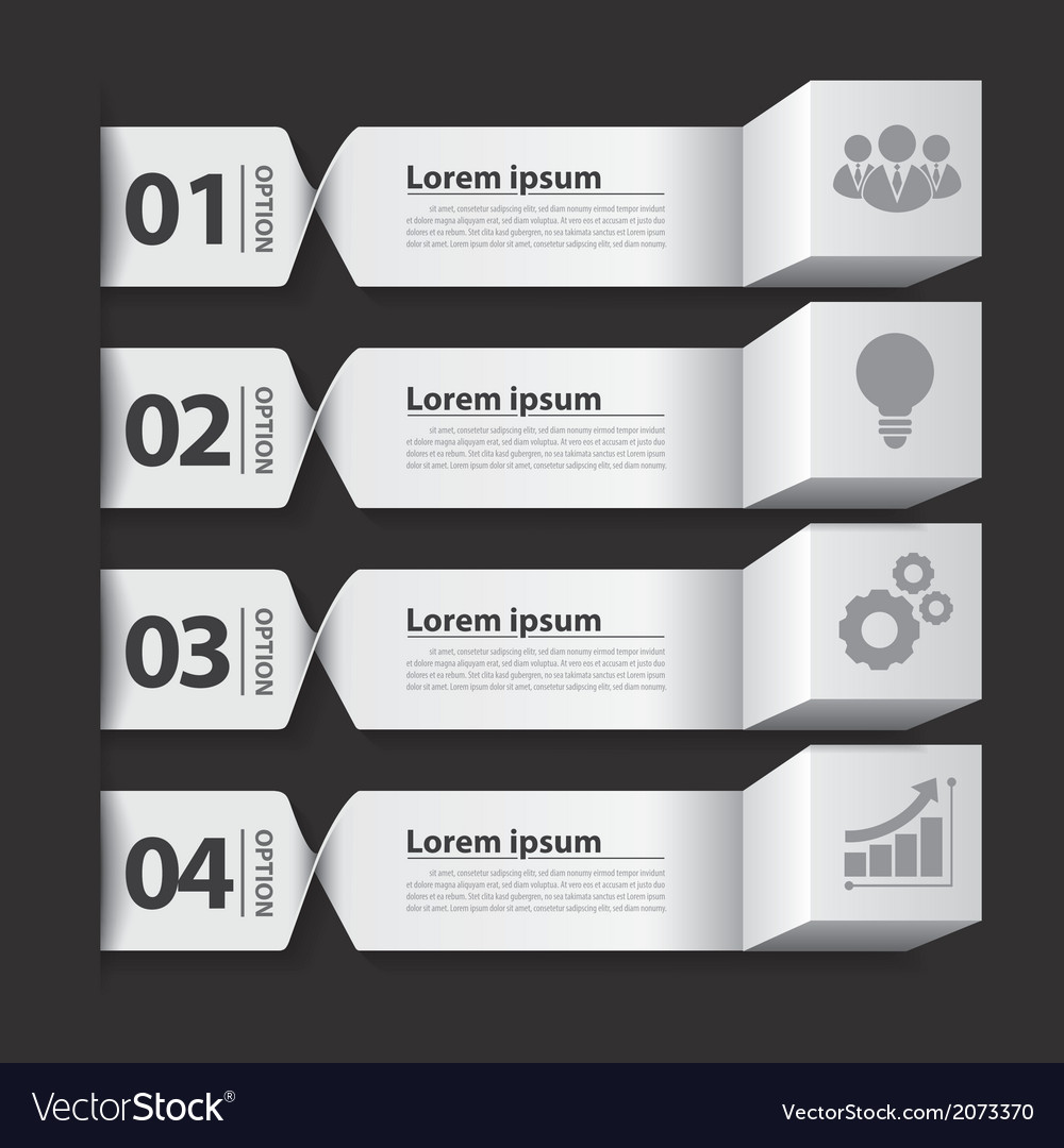 Modern business banner box infographic vector   Price: 1 Credit (USD $1)