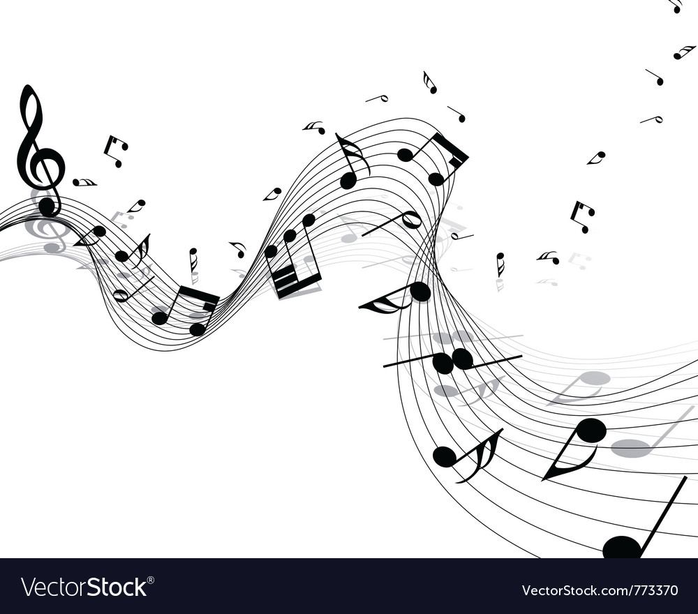 Musical notes background vector | Price: 1 Credit (USD $1)