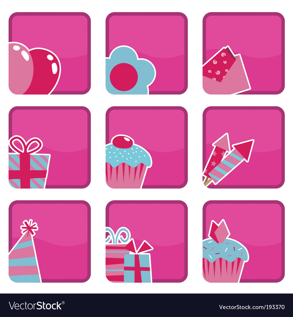 Party icons vector   Price: 1 Credit (USD $1)