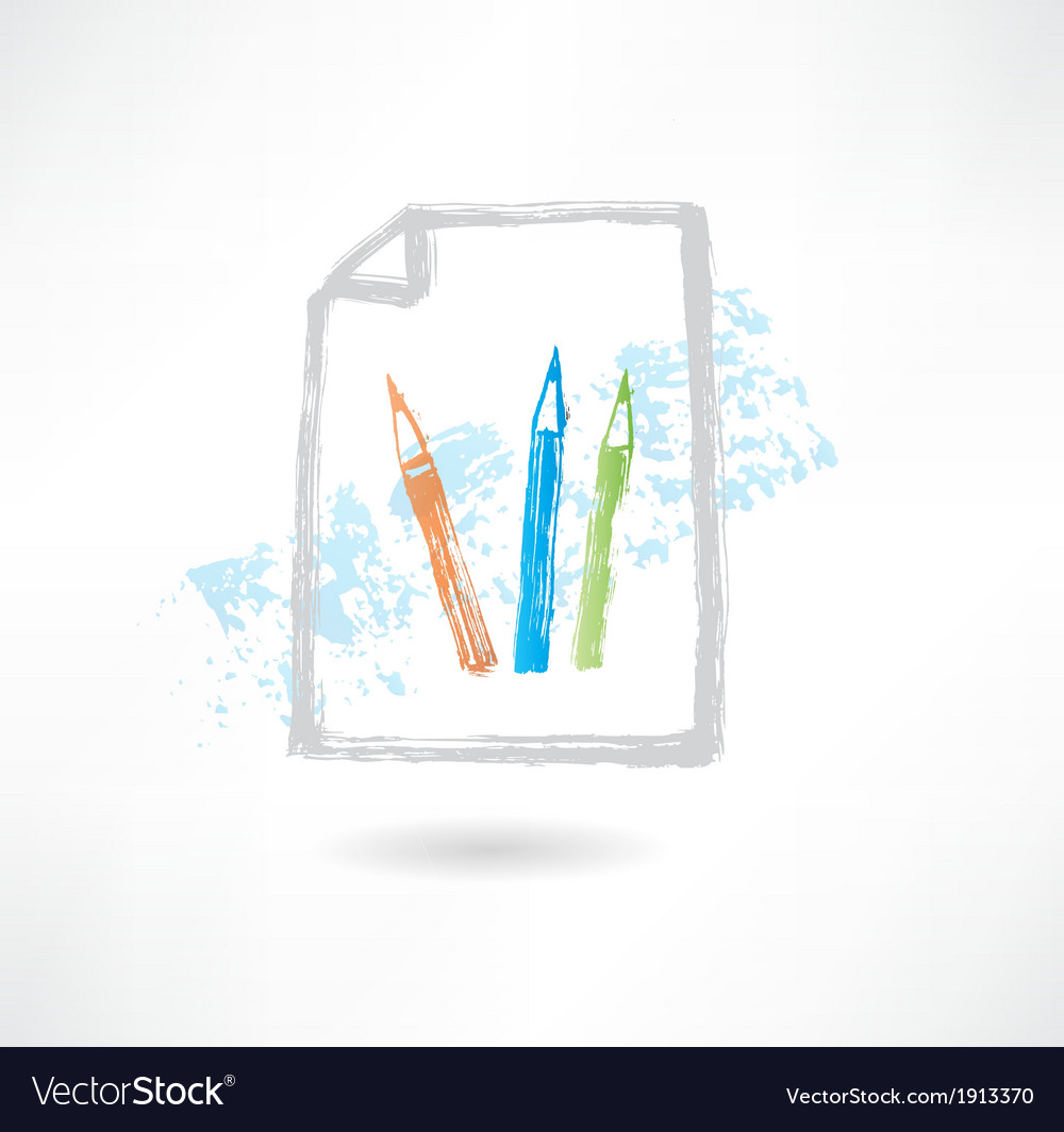 Pencil doc grunge icon vector | Price: 1 Credit (USD $1)