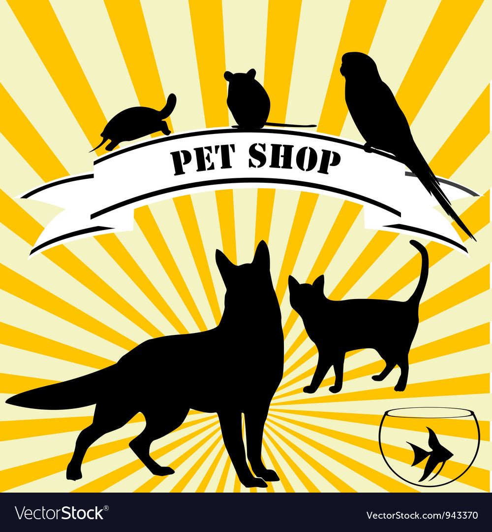 Pet shop advertising vector | Price: 1 Credit (USD $1)