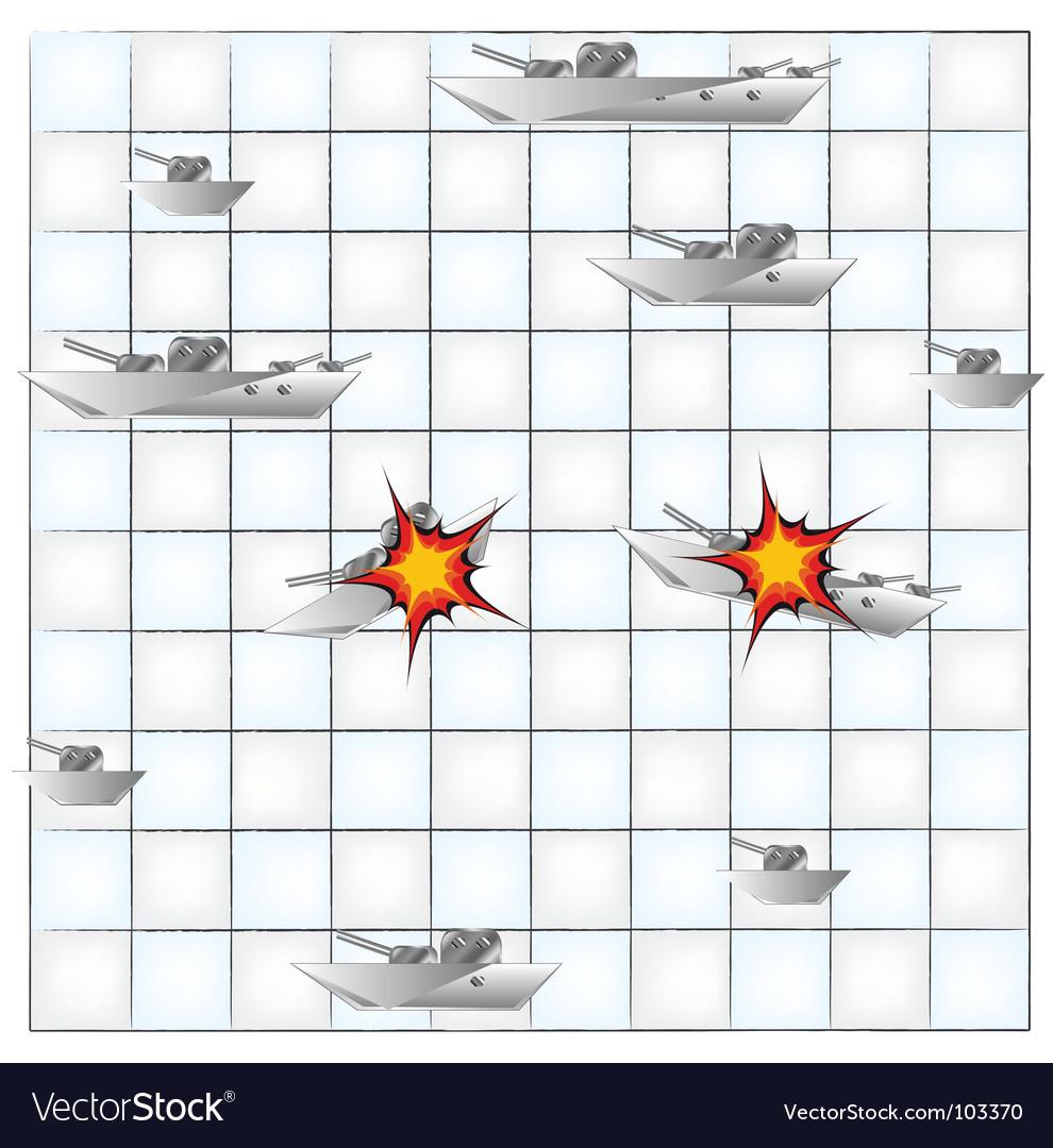 Sea battle vector | Price: 1 Credit (USD $1)