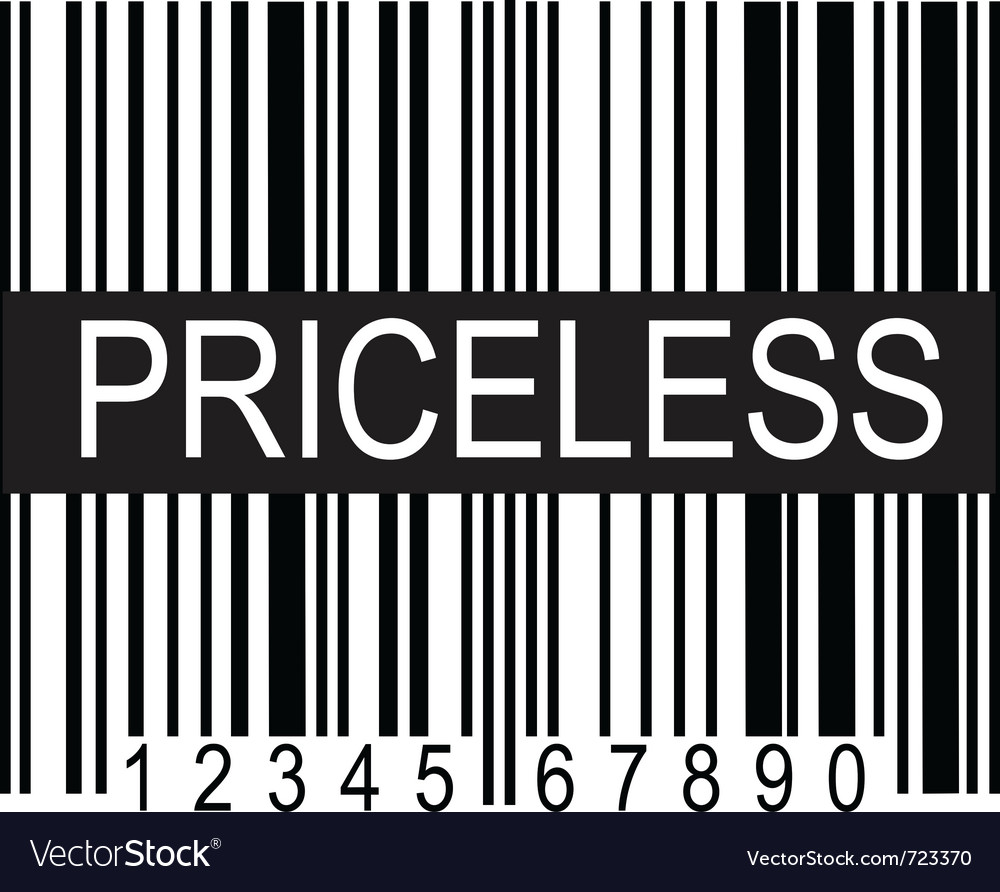 Upc code priceless vector | Price: 1 Credit (USD $1)
