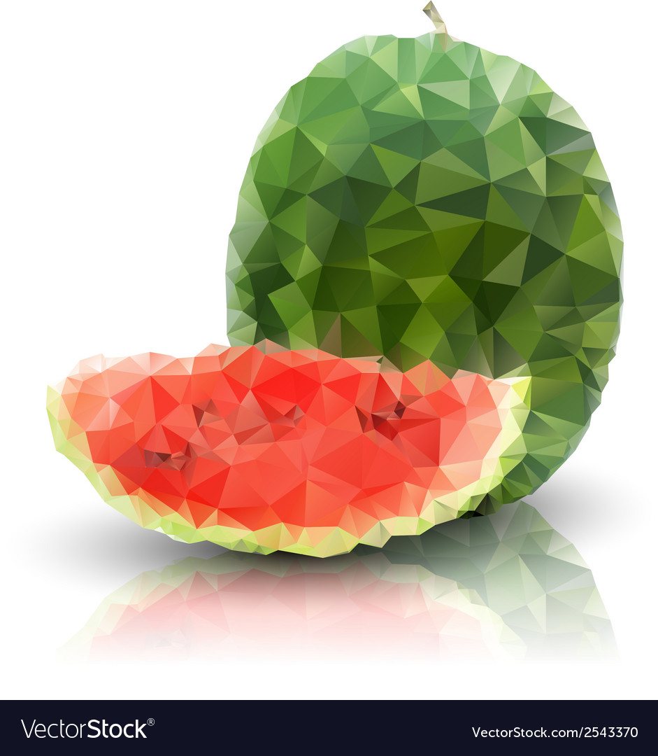 Watermelon isolated triangle design vector | Price: 1 Credit (USD $1)