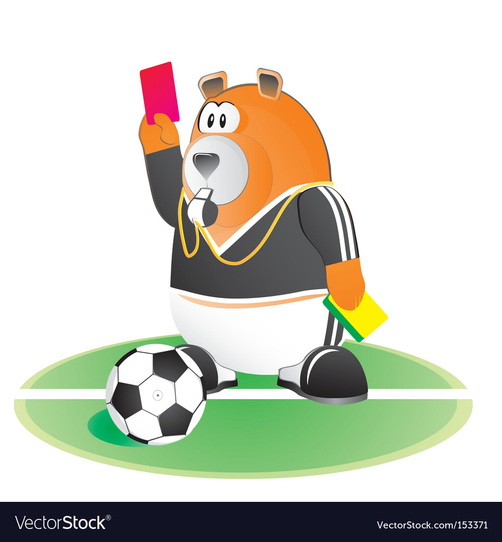 Bear soccer umpire vector | Price: 1 Credit (USD $1)