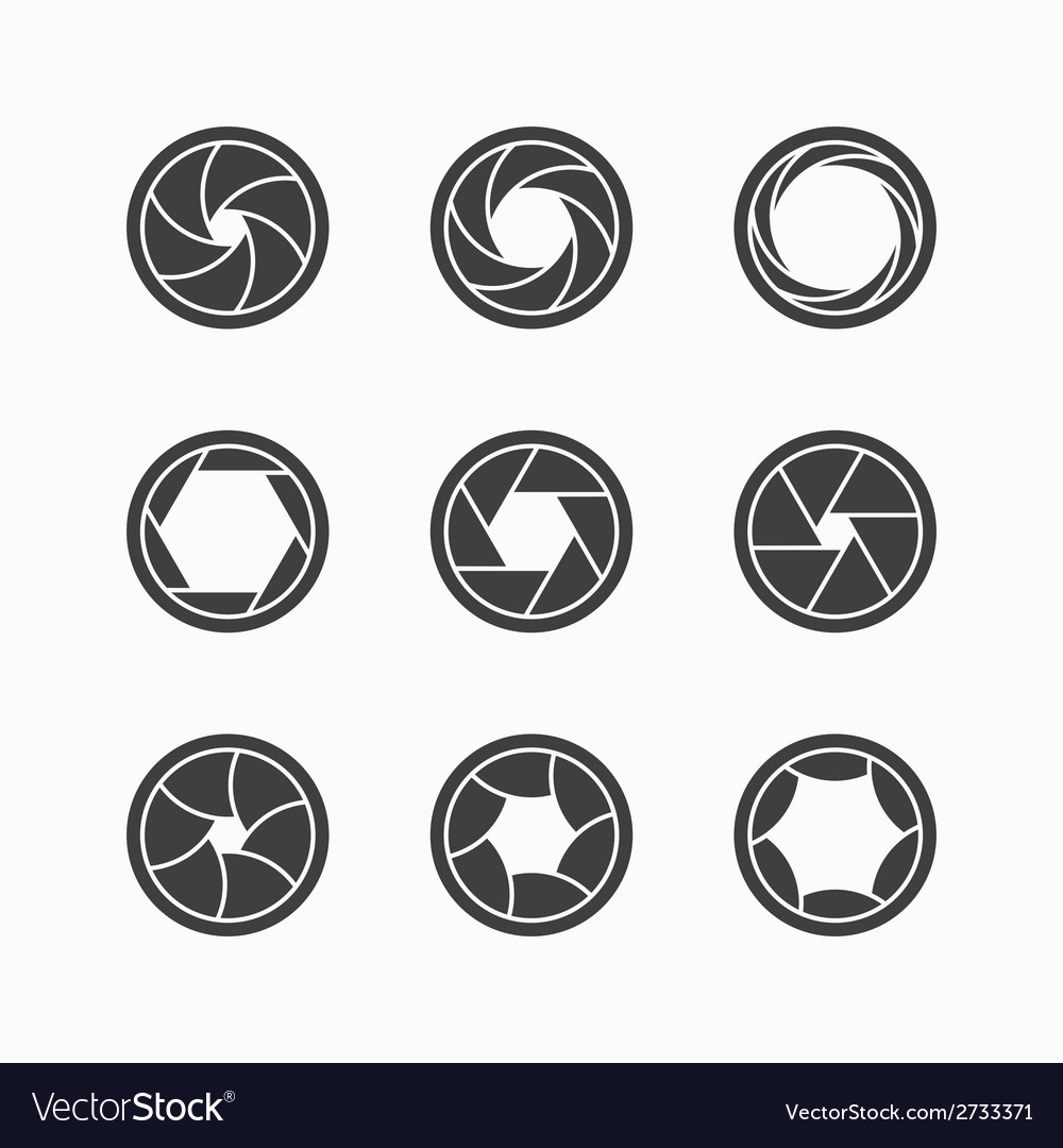 Camera shutter icons vector | Price: 1 Credit (USD $1)