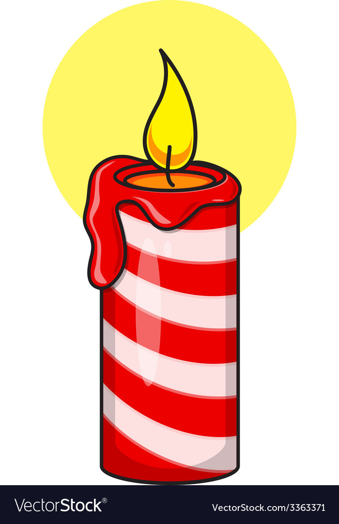 Christmas decorative candle vector | Price: 1 Credit (USD $1)