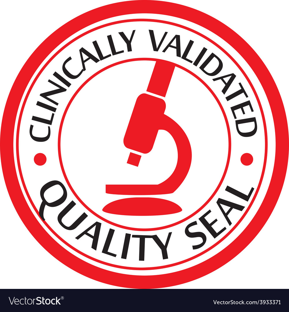 Clinically validated quality seal vector | Price: 1 Credit (USD $1)
