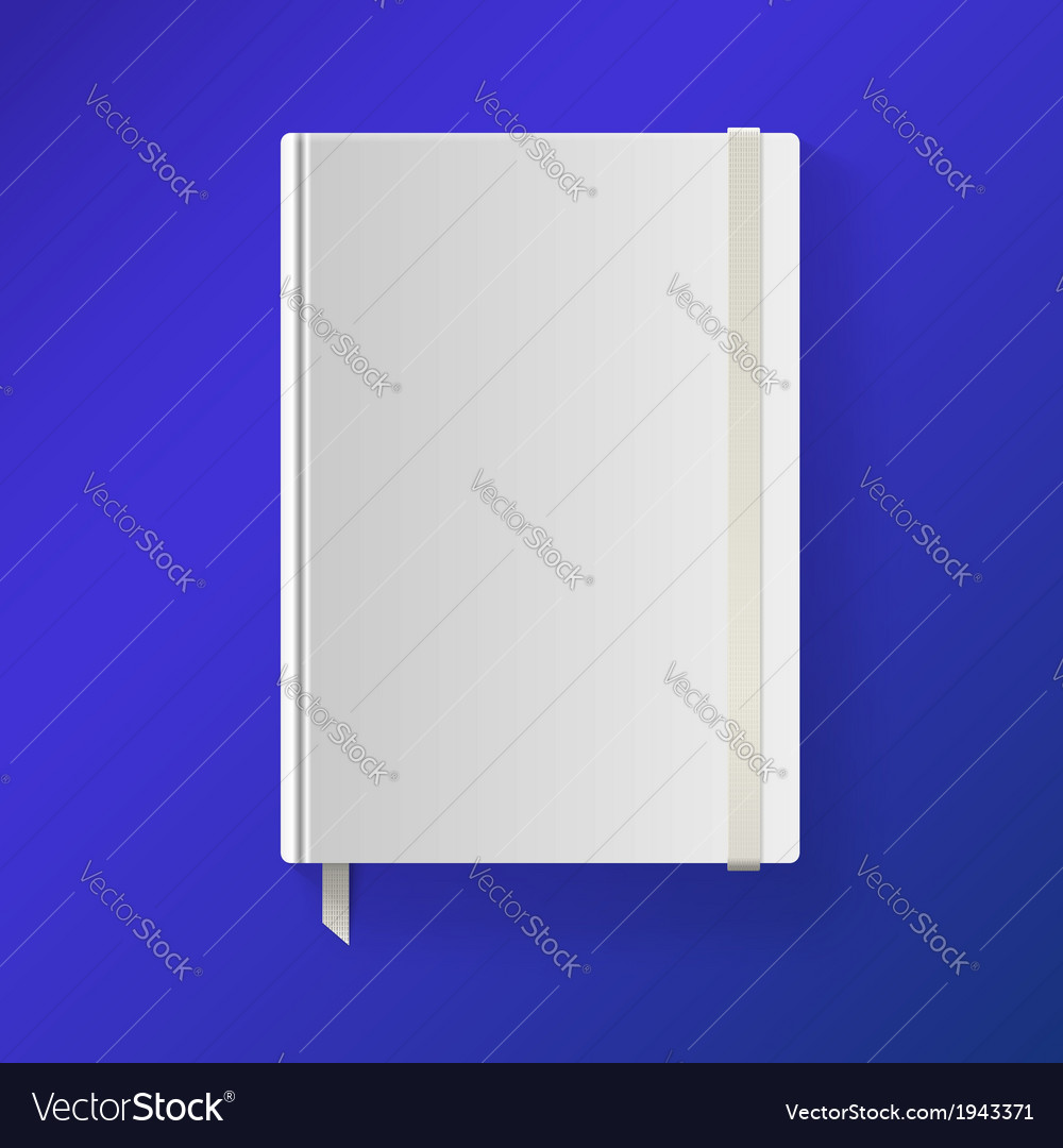 Copybook with elastic band and bookmark vector | Price: 1 Credit (USD $1)