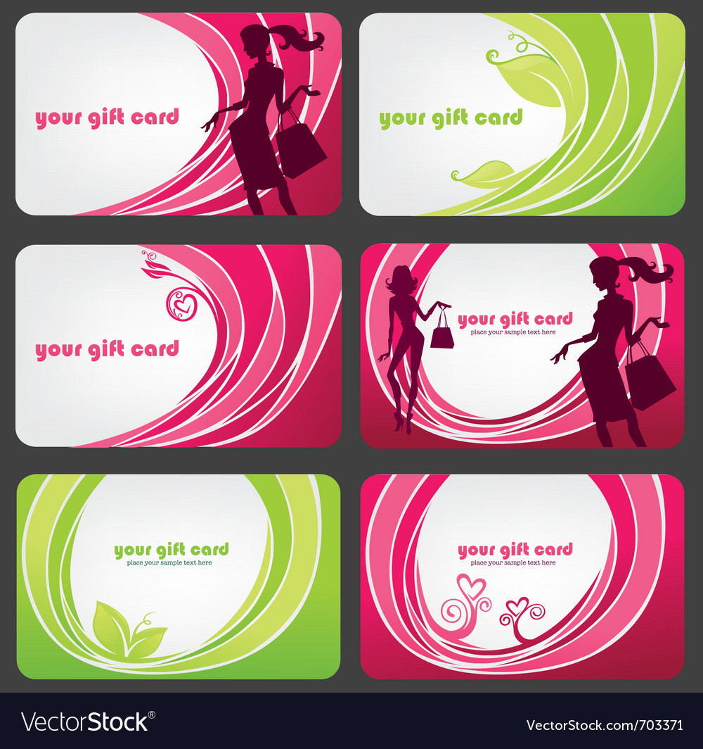 Fashion discount cards vector | Price: 1 Credit (USD $1)