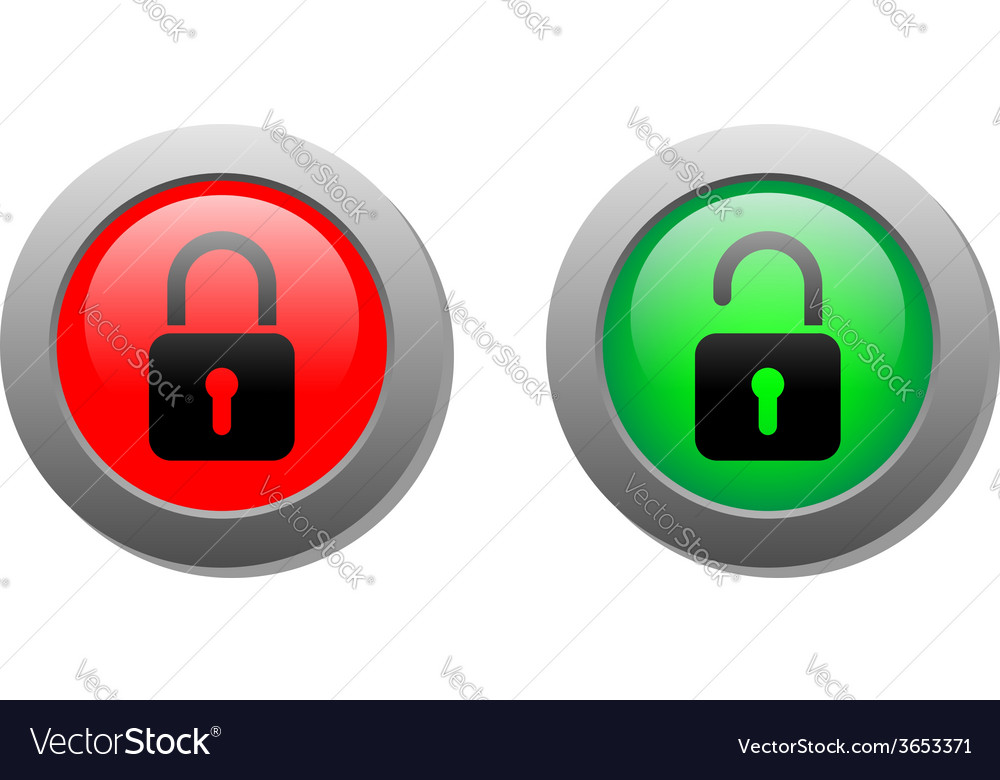 Lock buttons vector | Price: 1 Credit (USD $1)