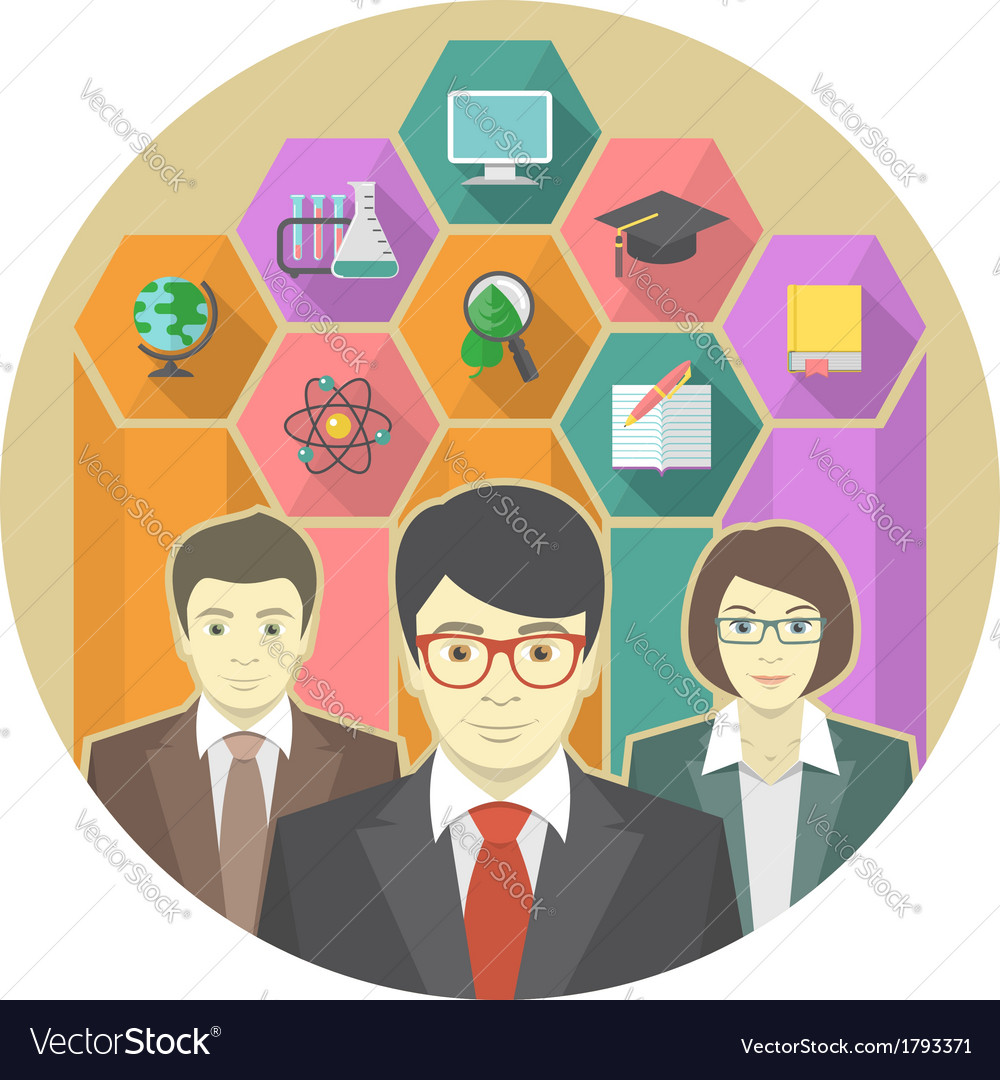 Teaching staff vector | Price: 1 Credit (USD $1)