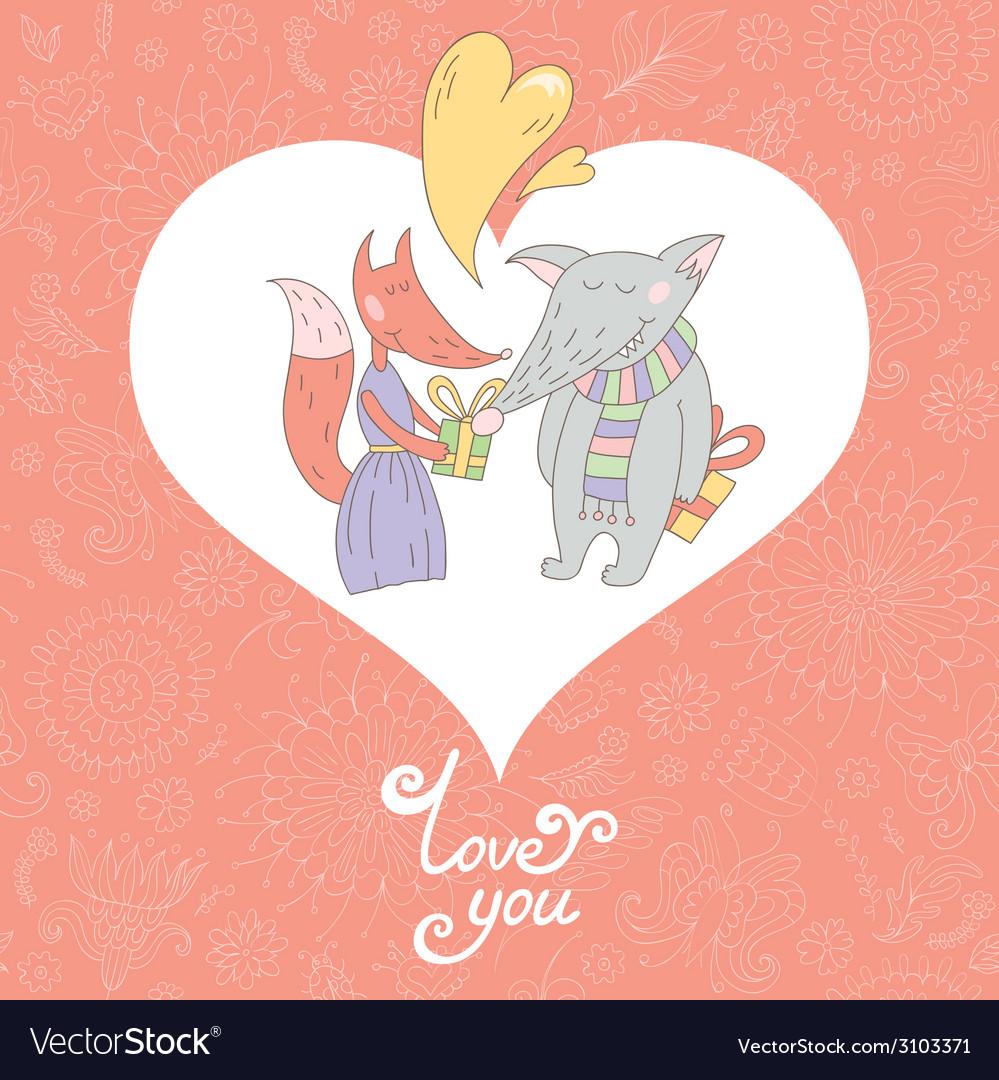 Valentine greeting card vector | Price: 1 Credit (USD $1)