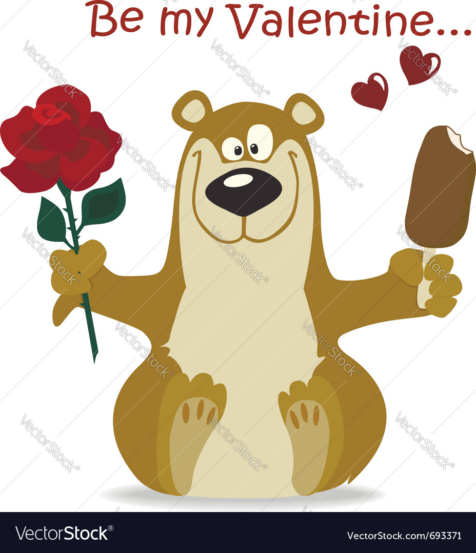 Valentines bear vector | Price:  Credit (USD $)