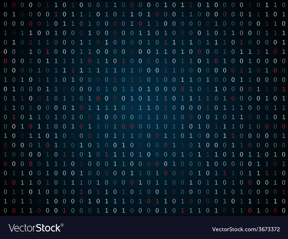 Binary computer code repeating background vector