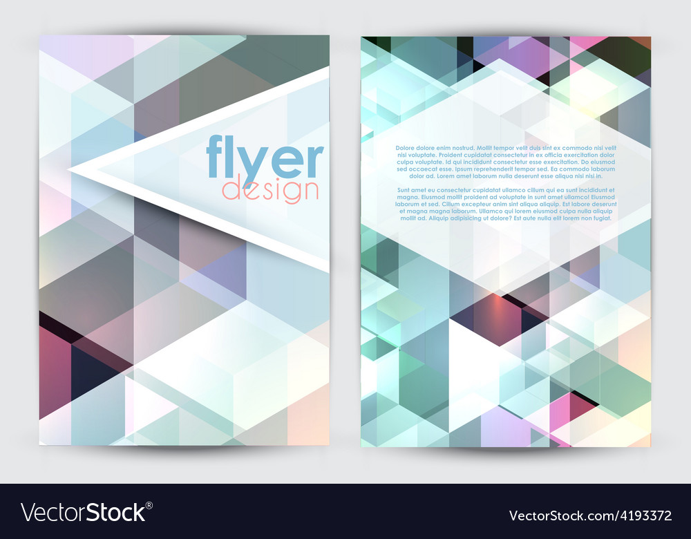 Double sided flyer design vector | Price: 1 Credit (USD $1)