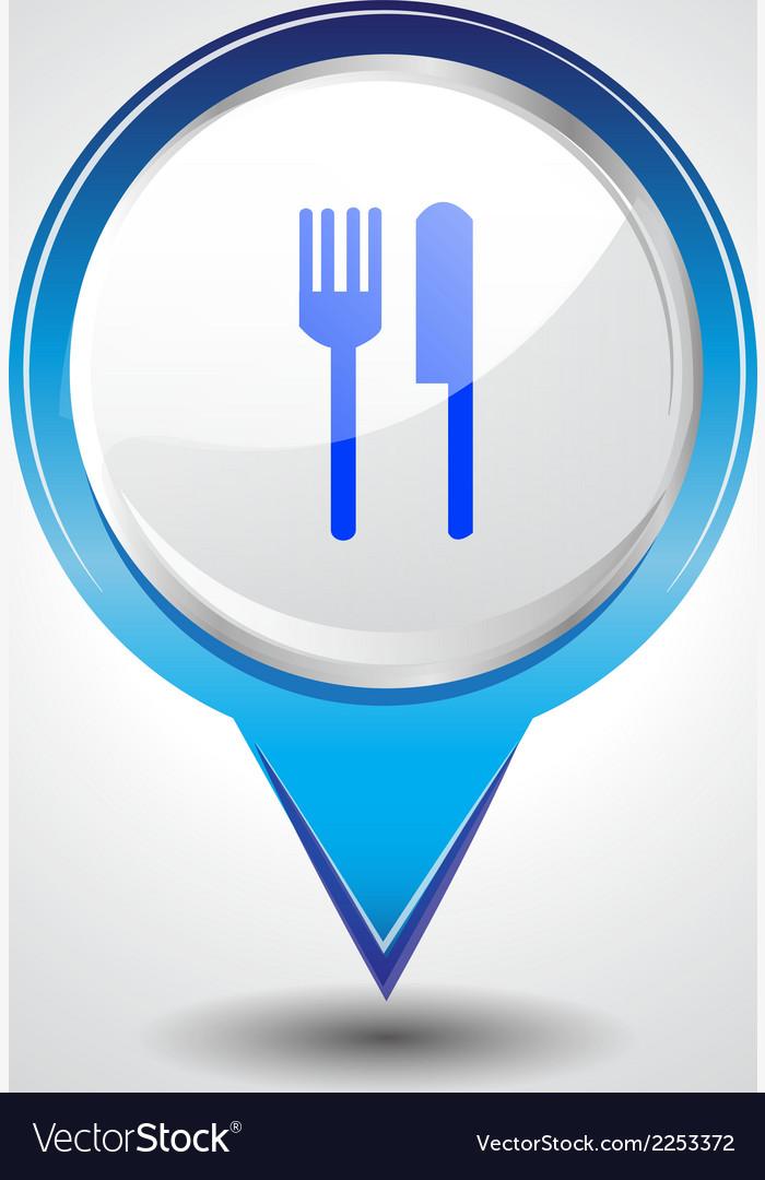 Food pins vector | Price: 1 Credit (USD $1)