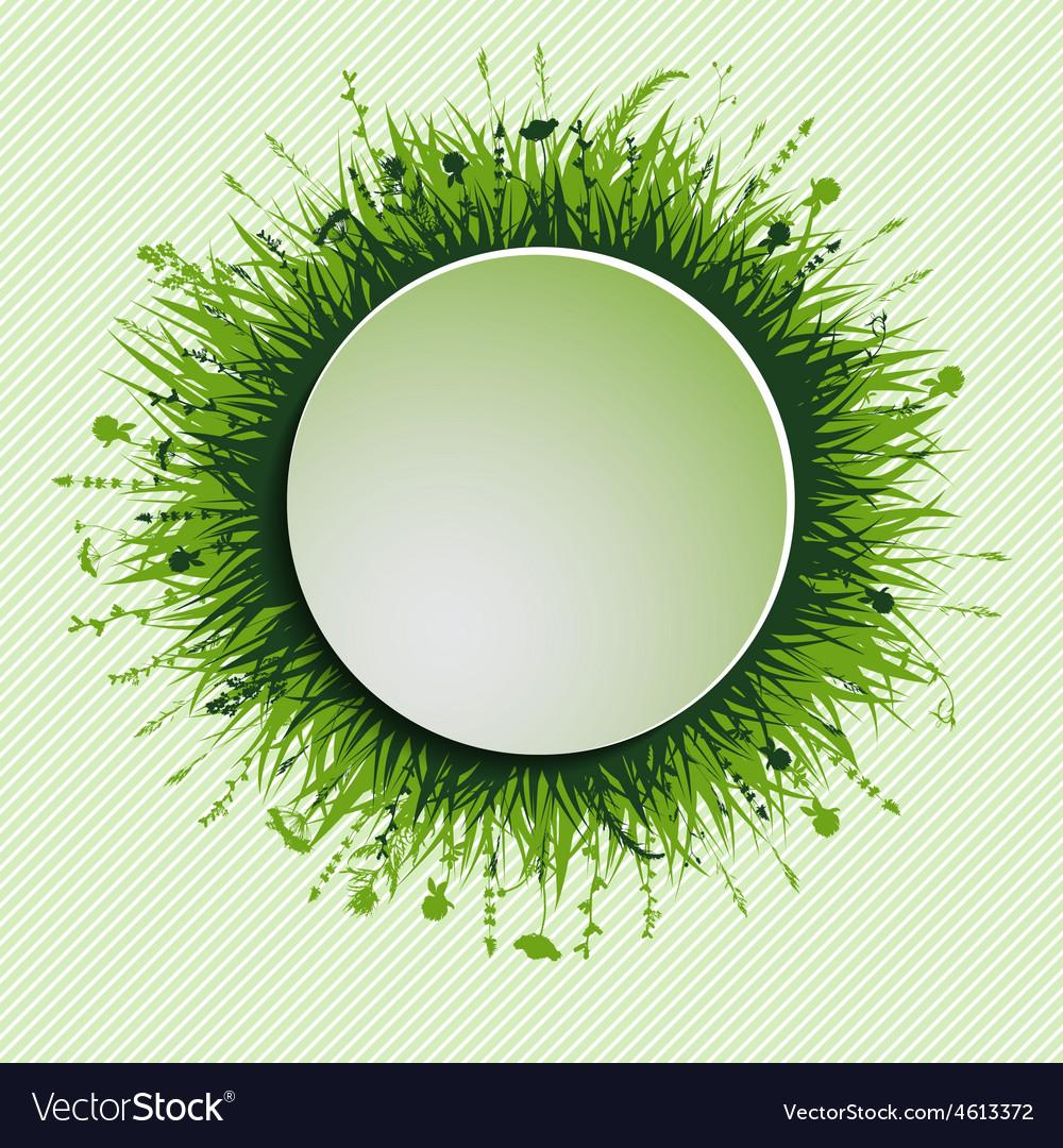 Grassy circle vector | Price: 1 Credit (USD $1)