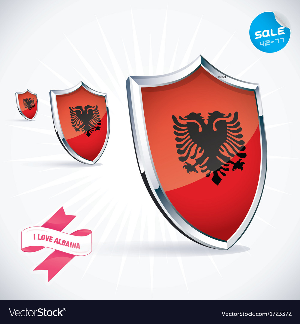 I love albania flag vector | Price: 1 Credit (USD $1)