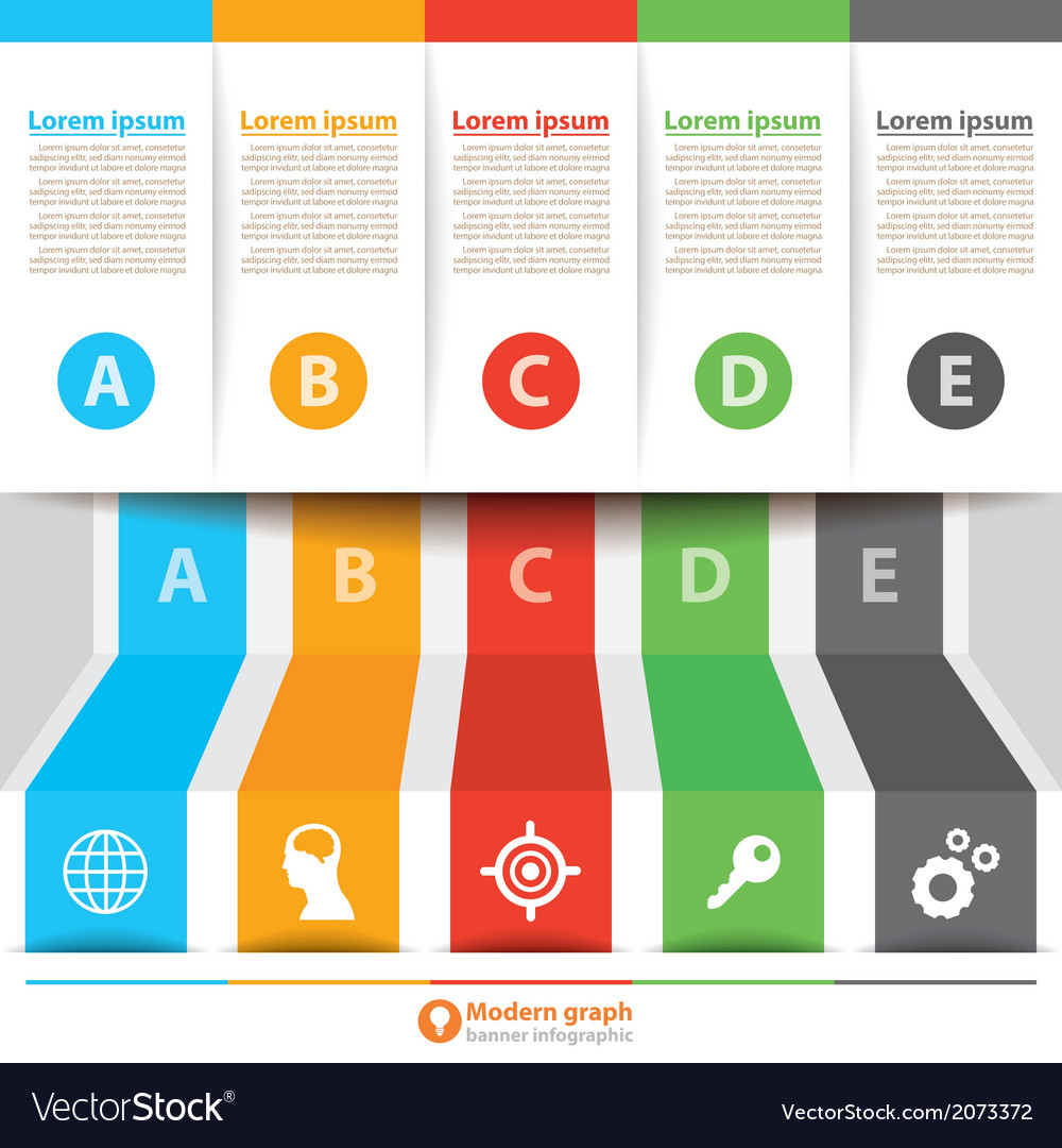 Modern banner infographic vector   Price: 1 Credit (USD $1)