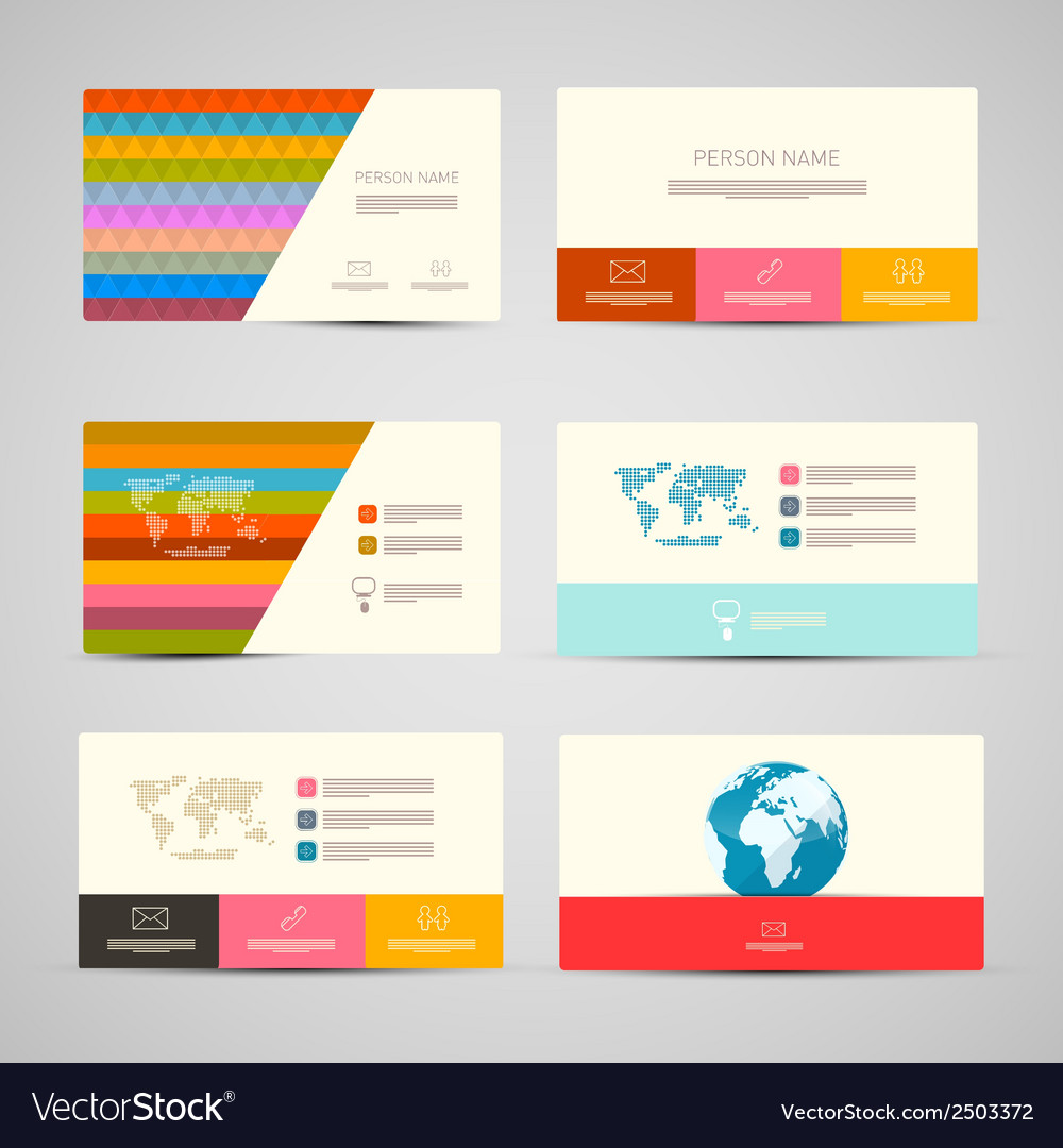 Paper business cards template set on grey vector | Price: 1 Credit (USD $1)