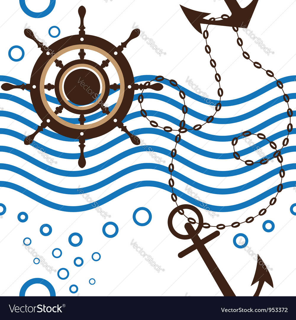 Seamless marine vector | Price: 1 Credit (USD $1)