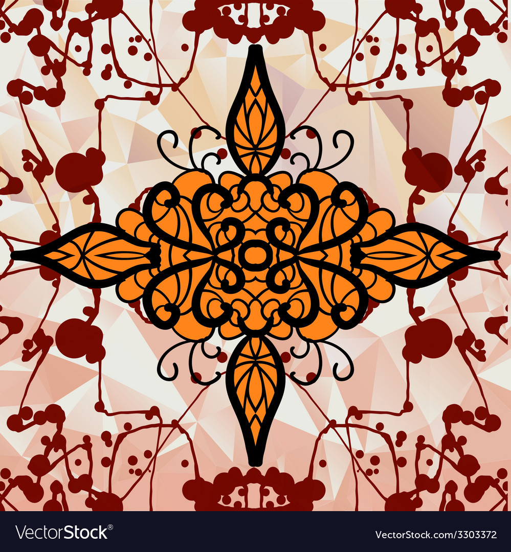 Symmetry ornamental design over triangles vector | Price: 1 Credit (USD $1)