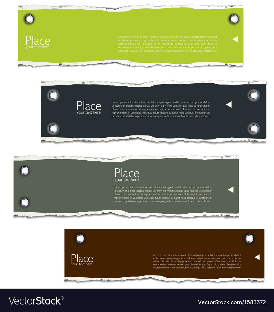 Torn paper background with space for text vector   Price: 1 Credit (USD $1)