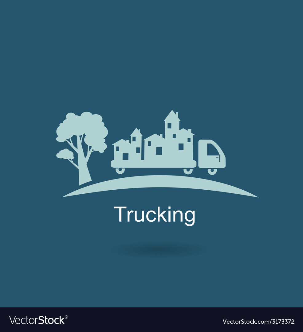 Trucking houses icon vector | Price: 1 Credit (USD $1)