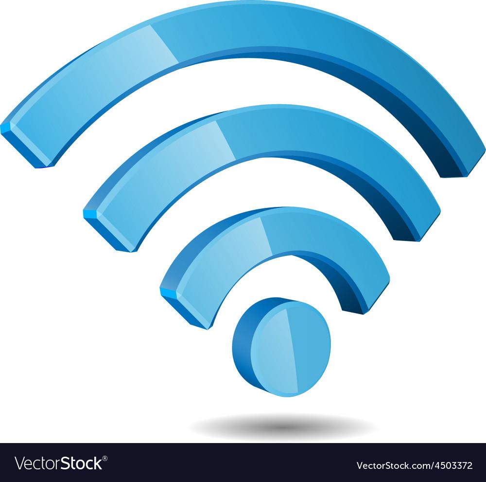 Wi fi wireless network symbol vector | Price: 1 Credit (USD $1)