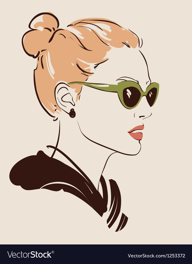 Woman in glasses vector | Price: 3 Credit (USD $3)