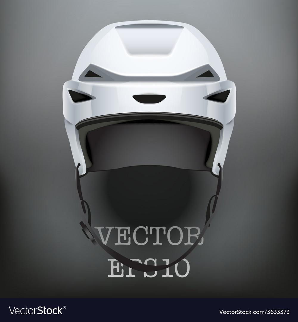 Background of classic ice hockey helmet vector | Price: 1 Credit (USD $1)