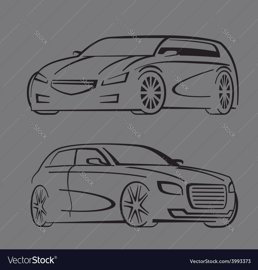Black auto set vector | Price: 1 Credit (USD $1)