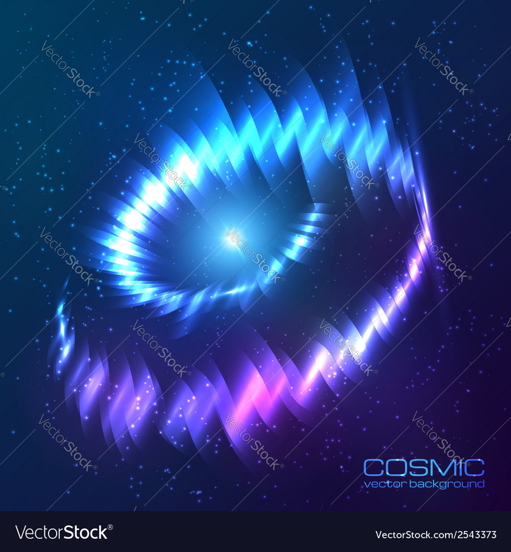 Blue shining cosmic neon light twirl vector | Price: 1 Credit (USD $1)