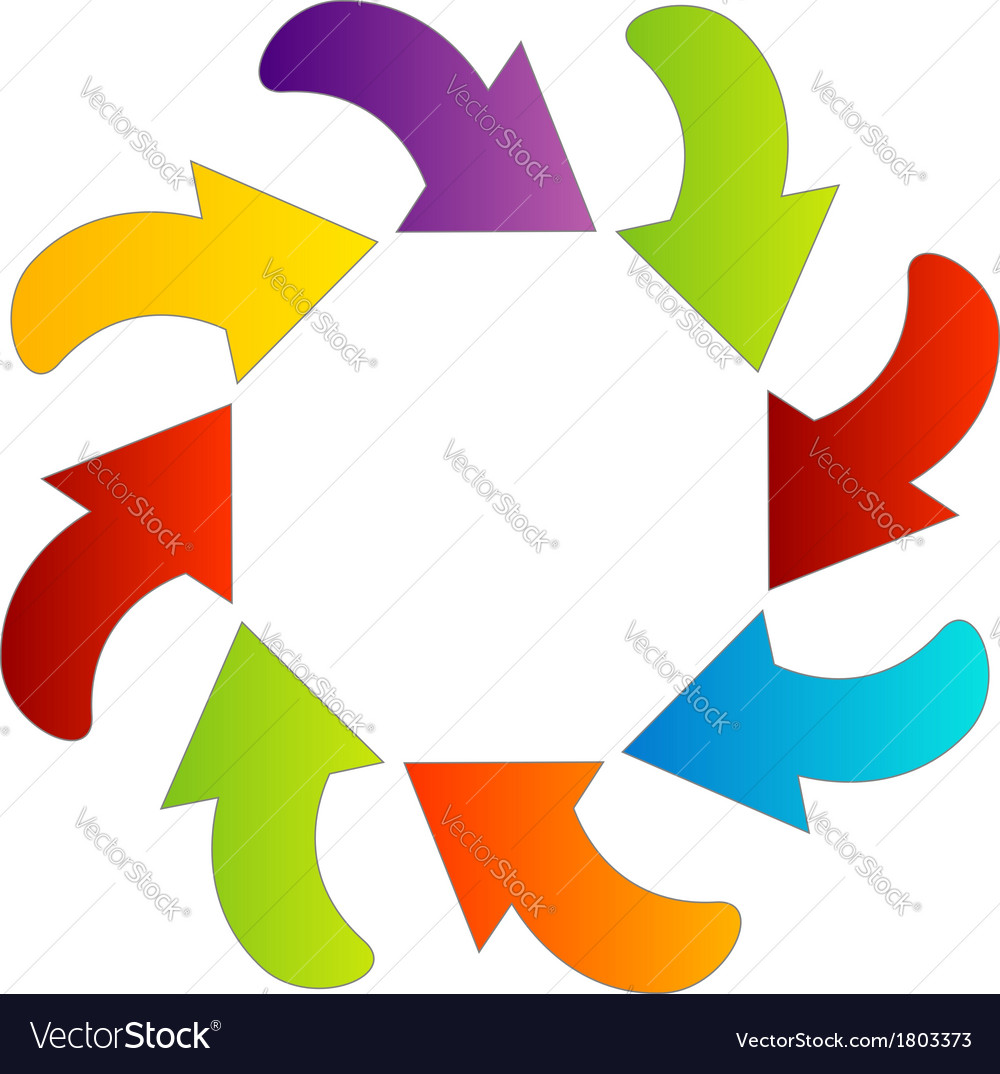 Circular design element with colorful arrows vector | Price: 1 Credit (USD $1)