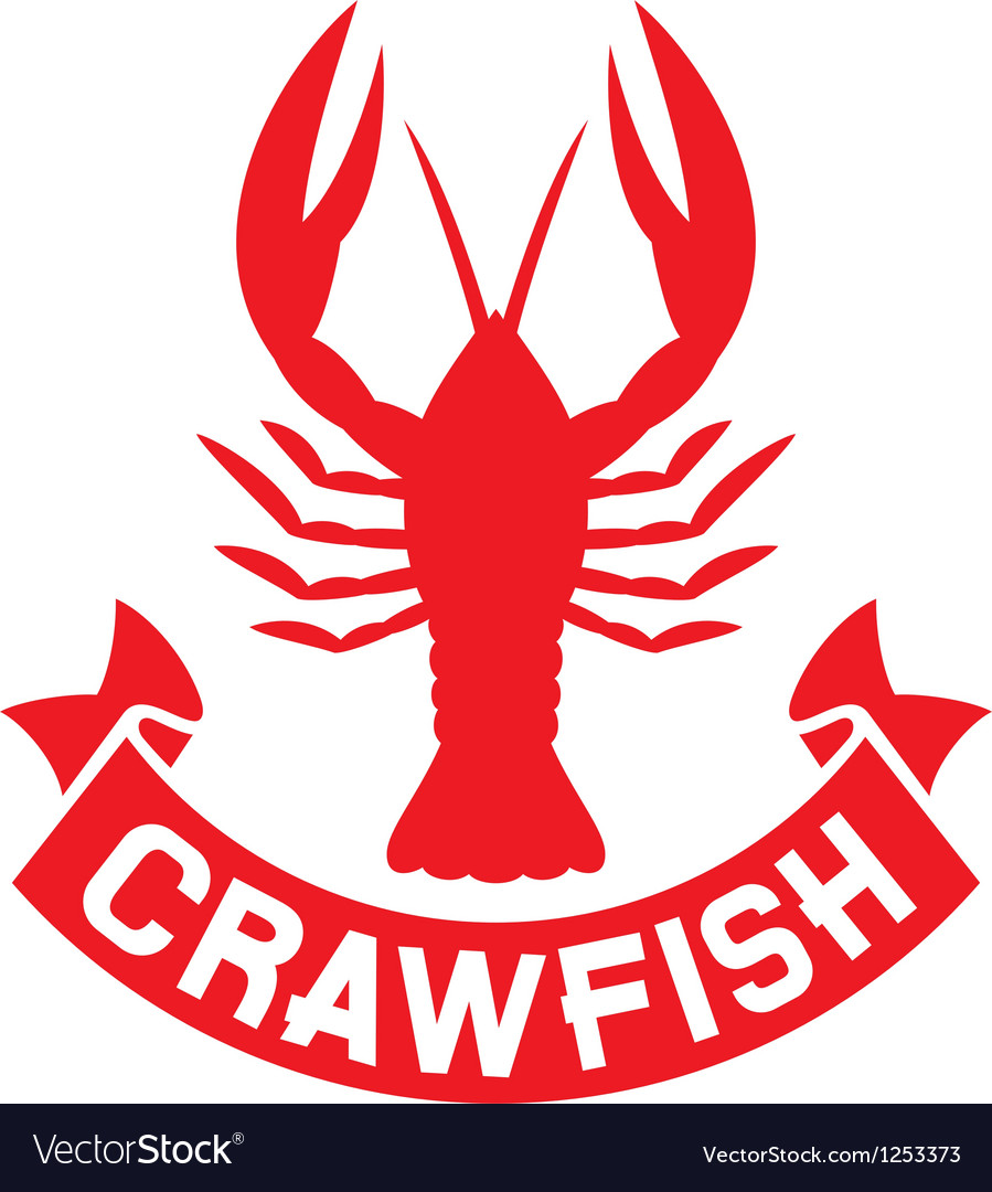 Crawfish label vector | Price: 1 Credit (USD $1)